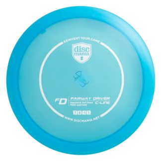 Discmania C-line FD blue with white stamp.