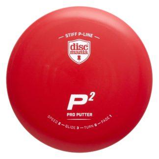 Discmania Stiff P-Line P2 Red with White Stamp
