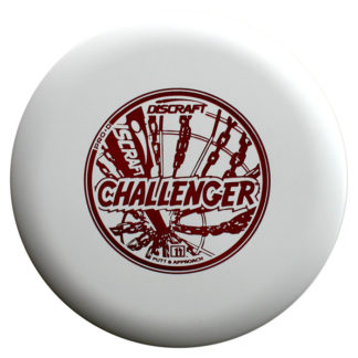 Discraft Challenger - White D Plastic - Red Stamp