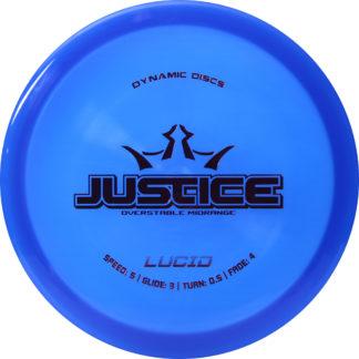 Dynamic Discs Justice Blue Lucid Plastic black stamp