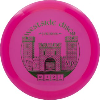 Westside Discs Fortress in pink VIP plastic.