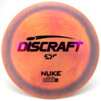 Swirl ESP Nuke - Orange/Yellow/Blue with Fuchsia foil stamp