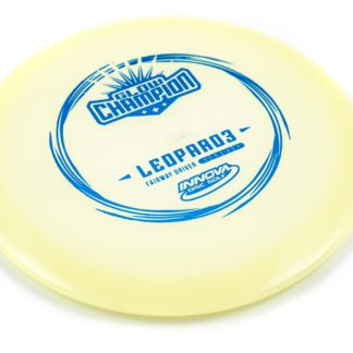 Glow Champion Leopard3 - White Glow plastic with Blue foil stamp