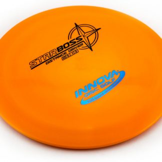 Innova Star Boss with Orange plastic and black and blue stamp.