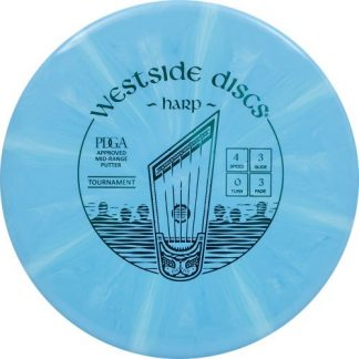 Westside Discs Burst Harp in blue with light blue streaks.