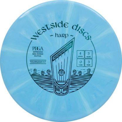 Westside Discs Burst Harp in blue with light blue streaks.
