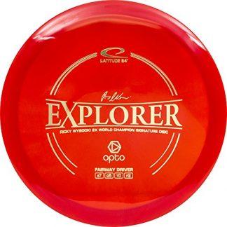 Latitude 64 Explorer in red onto plastic.