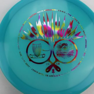DGA Glow Banzai blue with Rainbow Jelly Bean stamp