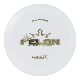 Dynamic Discs Eric Oakley Lucid-X Felon White with gold stamp