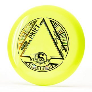 The Streamline Drift in yellow neutron plastic disc golf disc.