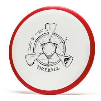 Axiom Fireball in white neutron plastic with red rim.