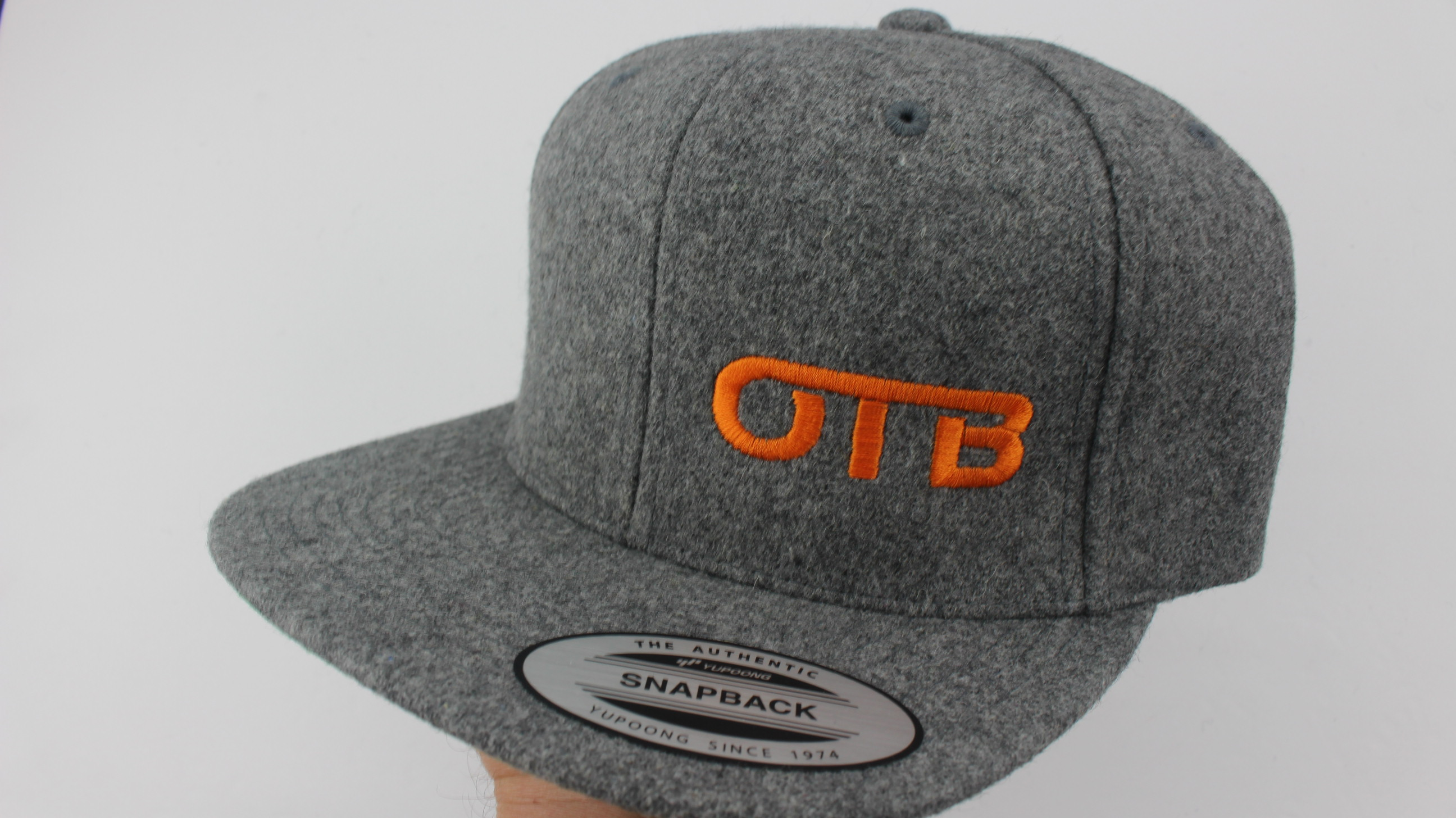 c42131210f4 Flatbill Snapback Hat - heather-wool - 1264 - orange