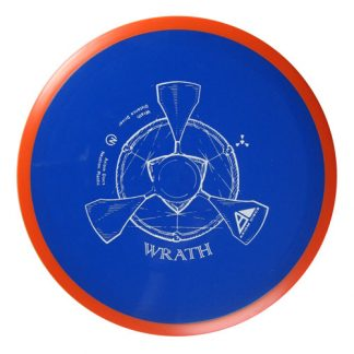 Axiom Wrath in blue neutron plastic with red rim.