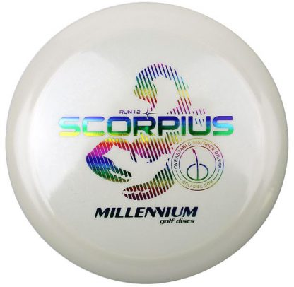 Millennium Scorpius White with Rainbow stamp