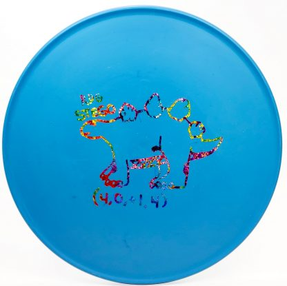 Blue Fossil Stego from Reptilian Disc Golf with Acid Party Time Stamp