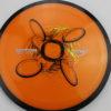 Motion - Plasma - SE - orange - black - rainbow-yellow-orange - black - silver - 154g - somewhat-domey-in-the-center - somewhat-gummy
