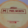 Kong - Paul McBeth Prototype - swirly - esp - red-lines - 173-175g - somewhat-domey - somewhat-stiff