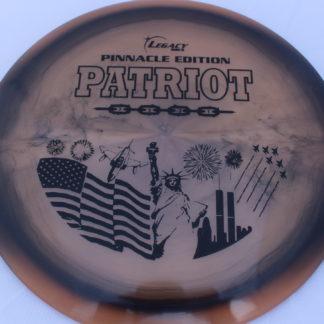 Swirly Pinnacle Patriot - Orange-ish/Black with Black foil stamp