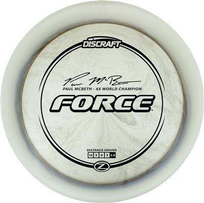 Discraft Paul McBeth Force Smoke with black stamp