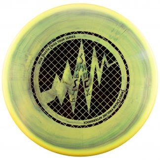 Swirly Special Blend Aftershock black stamp foil green and yellow swirl shastashock