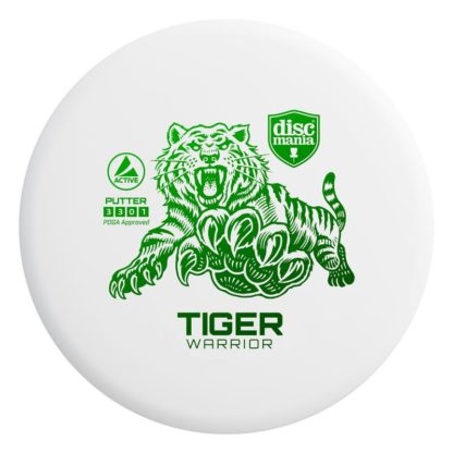 Tiger Warrior - White with Green foil stamp