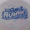 Aviar - Nexus - Jessica Weese - swirly - nexus - blue - 175g - somewhat-puddle-top - somewhat-stiff
