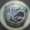 Vulture - Cryztal - 2019 LSIO - clear - silver-fracture-w-dots - 173-175g - slight-dome-to-a-puddle-top-center - somewhat-stiff