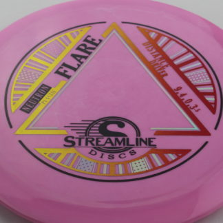 Streamline Flare Neutron plastic pink with 3 foil stamp