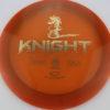 Knight - burnt-orange - opto - gold - 167g - somewhat-flat - neutral