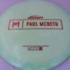 Kong - Paul McBeth Prototype - red - 173-175g - somewhat-flat - somewhat-stiff