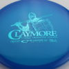 Claymore - blue - opto - teal - 177g - somewhat-flat - neutral