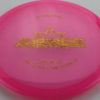 Justice - pink - lucid - gold-lines - 304 - 174g - 3311 - somewhat-flat - neutral