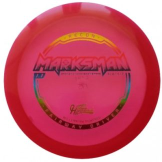Hyzerbomb Marksman Red with Rainbow stamp