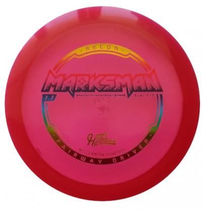 Hyzerbomb Marksman Red with Rainbow stamp
