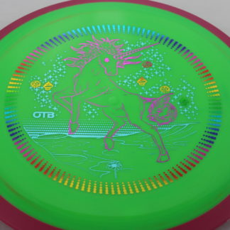Unicorn Insanity Axiom 3 foil stamp green disc pink rim