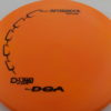 Aftershock - orange - d-line - black - 304 - 177g-2 - somewhat-flat - neutral