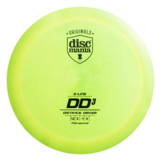 Discmania DD3 yellow/green with black stamp
