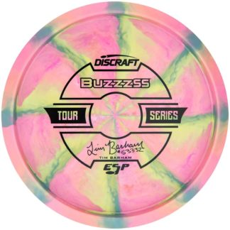 Barham buzzz ss - Swirly Pink Blue Yellow - Black stamp