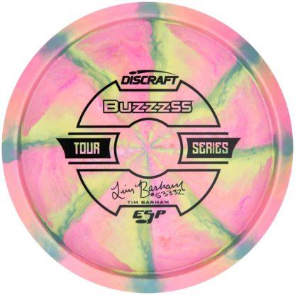 Barham buzzz ss - Swirly Pink Blue Yellow - Black stamp