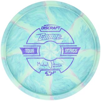 Johansen Comet - Blue Swirl - Purple stamp