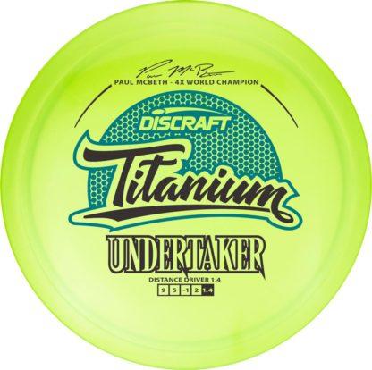 McBeth Undertaker - Yellow/Green - Black/Blue stamp