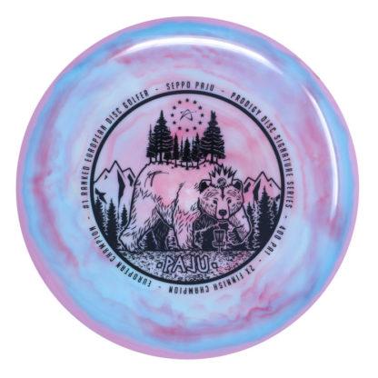 Seppo PA1 - Swirly Pink/Blue - Black stamp