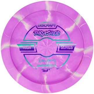 Jenkins Thrasher - Purple swirl - Rainbow stamp