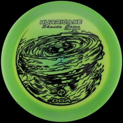 Shasta Hurricane Green Swirl - Black stamp