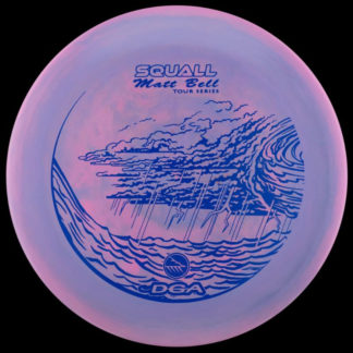 Matt Bell Squall - Swirly Purple with Blue stamp