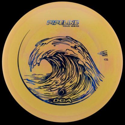 Tour Series Pipeline - Orange Swirl - Blue stamp