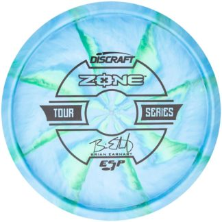 Earhart Zone - Blue/Green Swirl Black stamp