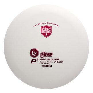 Glow P Line P2 - White with Red foil stamp