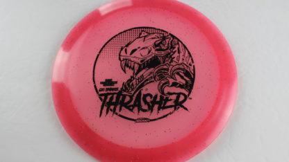 Glo Sparkle Thrasher - Pink with Black foil