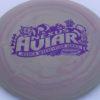 Aviar - Nexus - Jessica Weese - swirly - nexus - purple - 175g - somewhat-puddle-top - somewhat-stiff